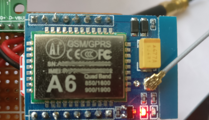 Send SMS with an A6 GSM module - Twigg-o-tronix